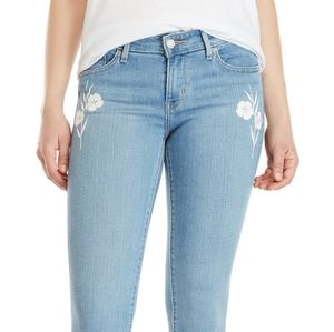 LEVI'S 711 Skinny floral embroidered jeans